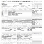 Legal Character Sheets