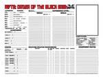 Rifts Order of the Black Sash Character Sheet