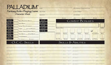 Pathfinder Style Palladium Fantasy CS FILLABLE