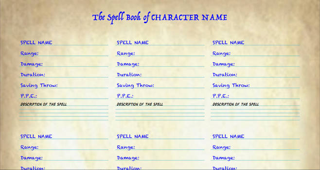 Pathfinder Style Palladium Fantasy Spell List