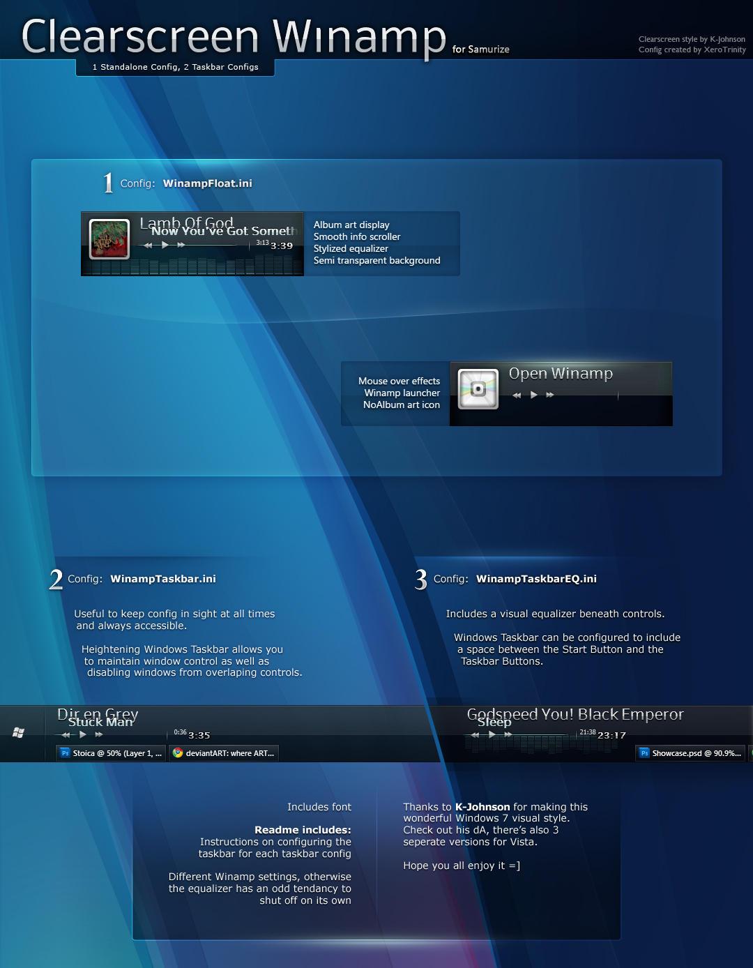 Clearscreen Winamp by XeroTrinity