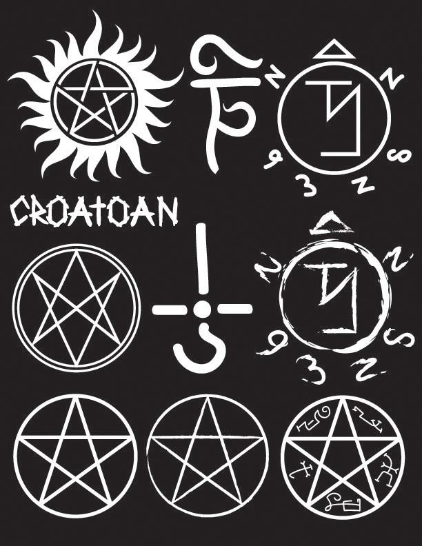 Supernatural Symbols Brush Set By Asemoth On Deviantart