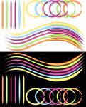 Neon Brushes for Illustrator