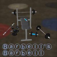 Barbell Prop Pack - [Xps/Xnalara - Download] by HarleySin