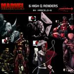 3 Marvel Comics Render Pack