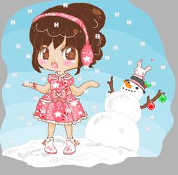 Ribbon Heart - Bubblegum Snow by Hatty-hime