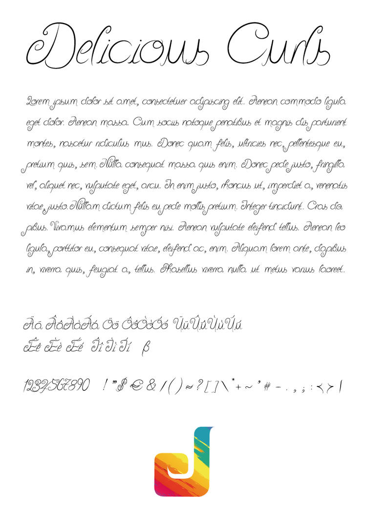 Delicious Curls Font by Julliversum