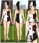 Monokuma-Inspired Swimsuit [Skin Contest Entry] by AlchemistOtaku