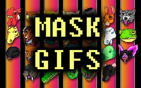 Hotline Miami Animated Mask Icons