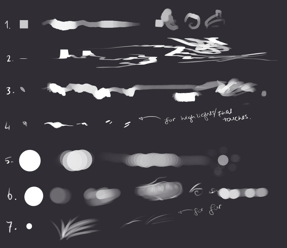 My Photoshop brushes #2 - free download! by Rametic on