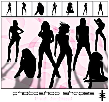 Photoshop Shapes - Hot babes