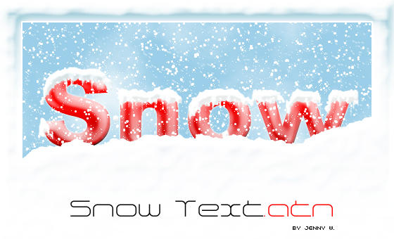Snow Text by mutato-nomine