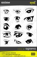 Anime Eye Pack - Agneva Stock by agneva