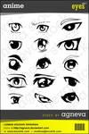 Anime Eye Pack - Agneva Stock