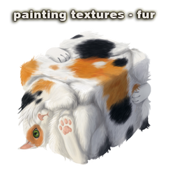 painting textures - fur - video by vesner