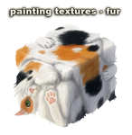 painting textures - fur - video
