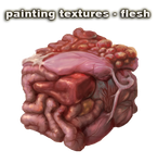 painting textures - flesh - video