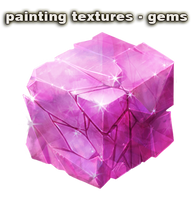 painting textures - gems