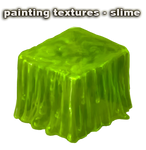 painting textures - slime - video