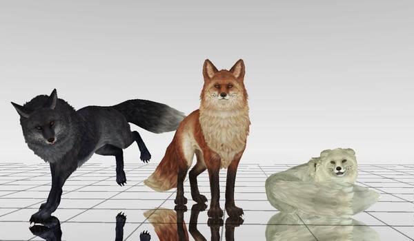 MMD Fox DL