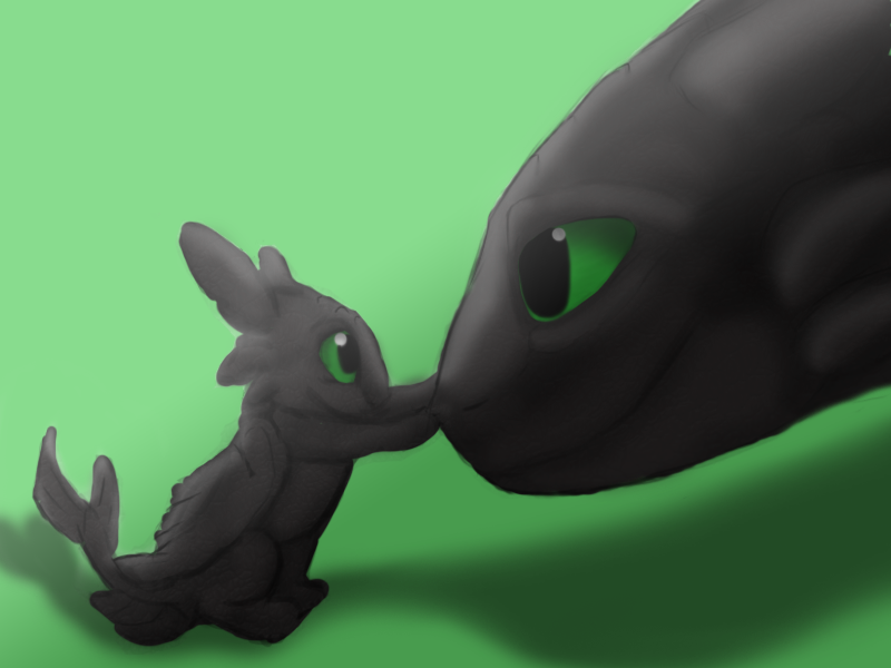 Toothless And Baby By Miyukiarts On Deviantart