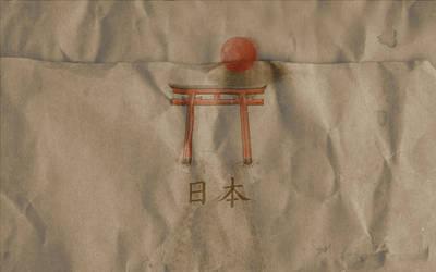 Torii Gate Paper Wallpaper