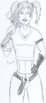 Harley Quinn Sketch - Pencil Version