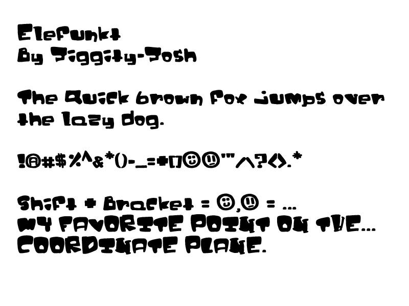 Elefunkt: a font for you