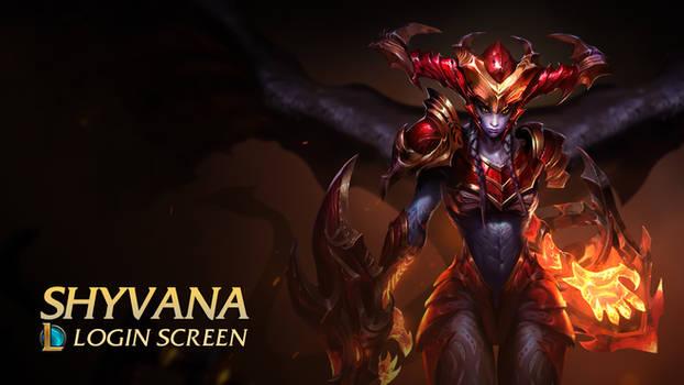 Shyvana - The half dragon | Login Screen