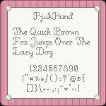 PjukHand Pixel Font