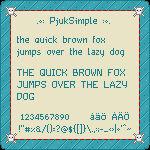 PjukSimple Pixel Font