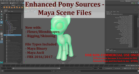 SFM Ponies Enhanced - Maya Scene Files