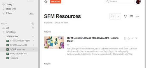 [RSS/OPML] SFM-Ponies Resource Gallery Feeds