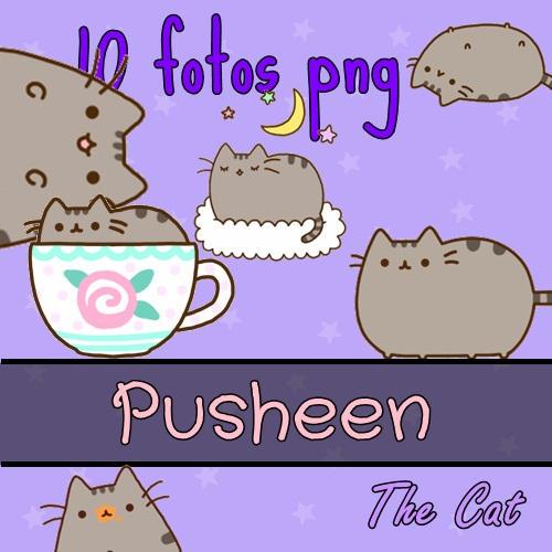 Pack 10 PNG PusheenTheCat!! by PinkyTutos
