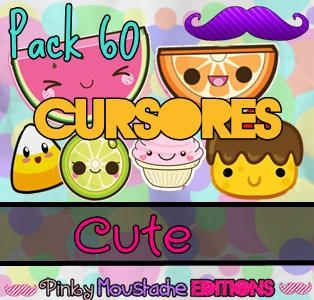Pack 60 Cursores Cute! ~ by PinkyMoustacheEditions by PinkyTutos