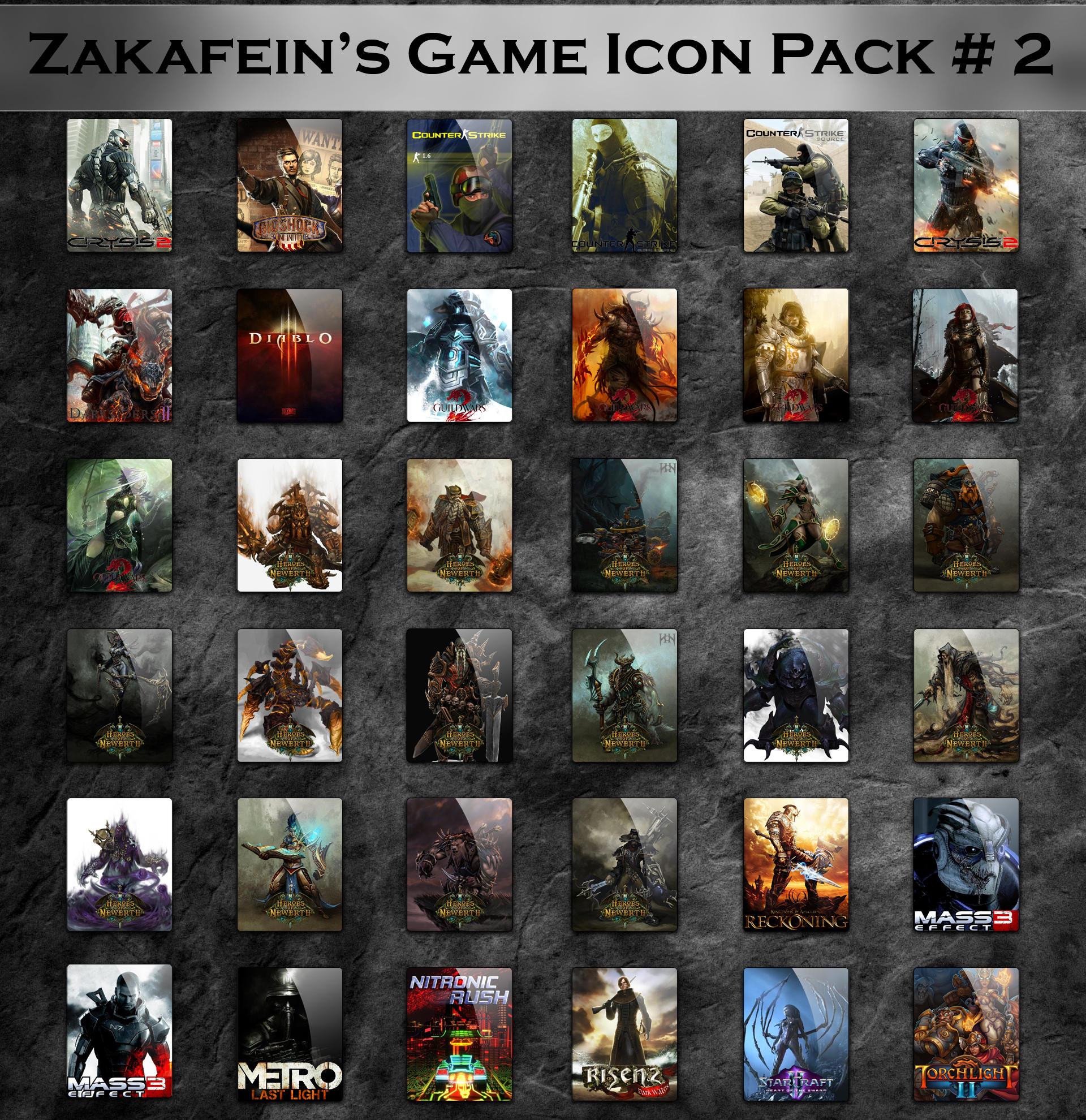 Zakafein's Game Icon Pack 2 by Zakafein