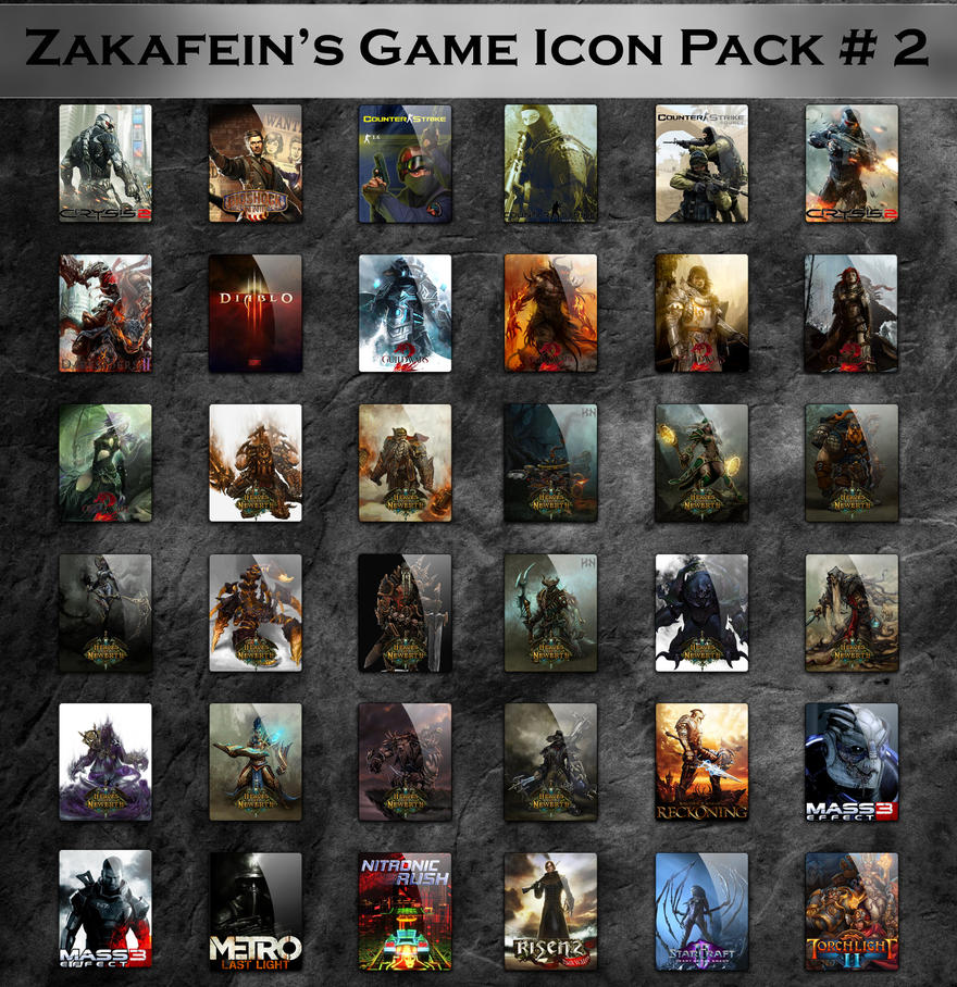 Zakafein's Game Icon Pack 2 by Zakafein