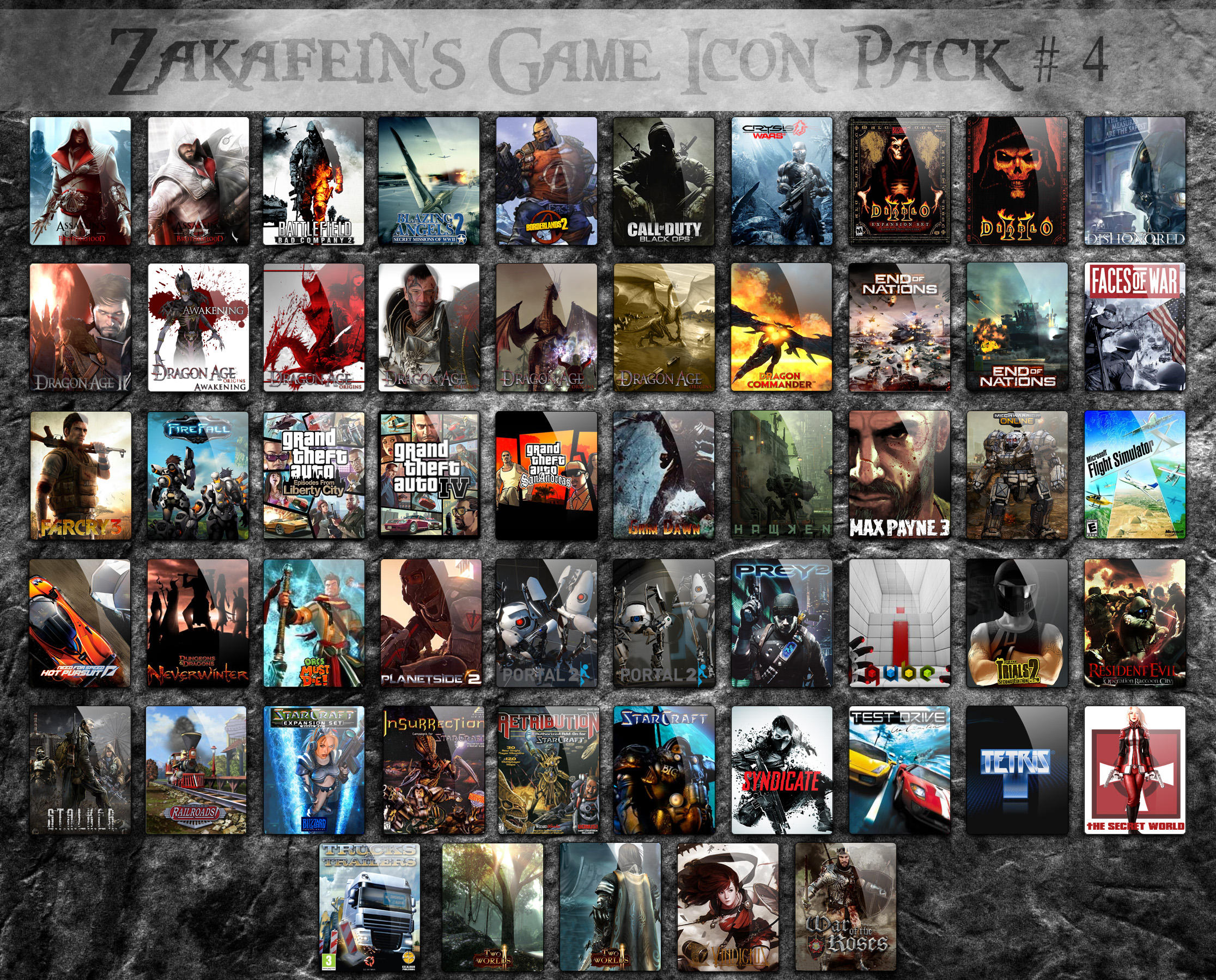 Zakafein's Game Icon Pack 4 by Zakafein