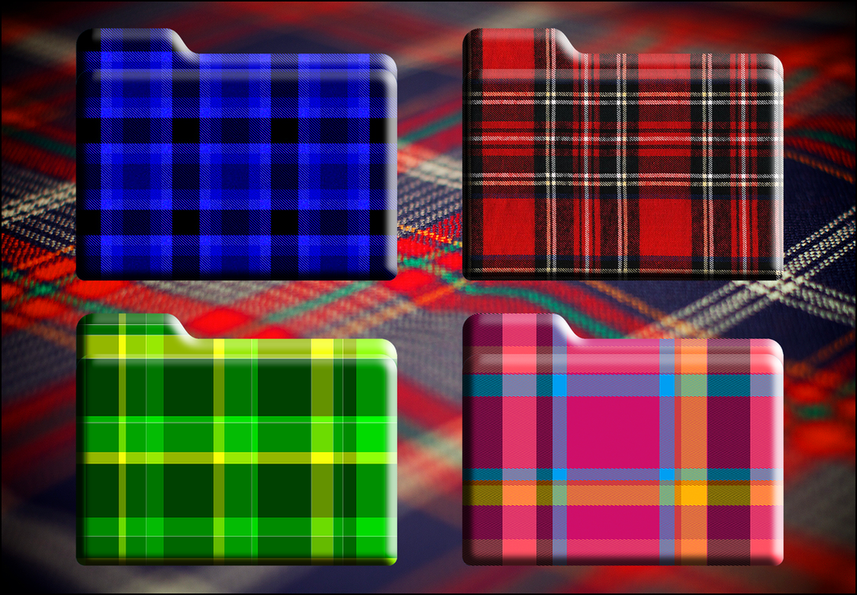 Tartan HD Folder Icons (Mac And Windows) by Scottydog332