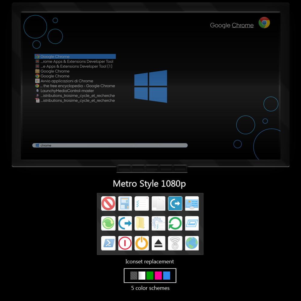 Metro Style - Fullscreen 1080p Launchy skin by ...