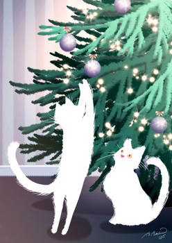 kittens and the tree