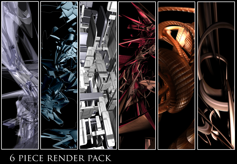 6-pack abstract renders