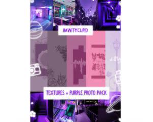 textures + purple photo pack