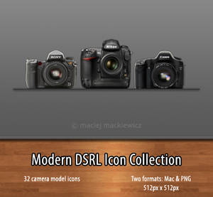 Modern DSLR Icon Collection