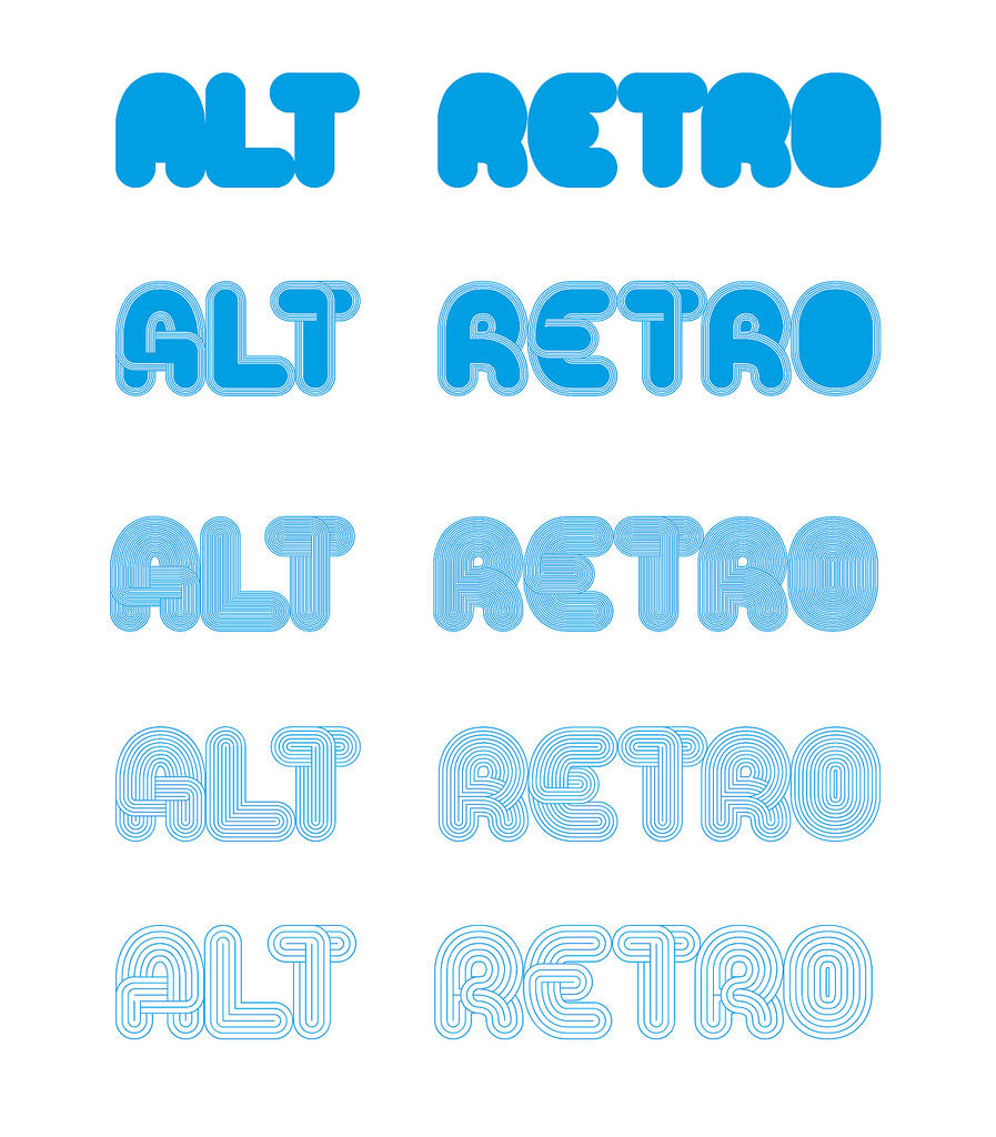 Alt Retro Typeface by andreasleonidou