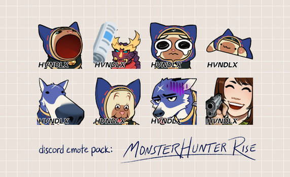 MH: Rise Discord Emotes (animated!)