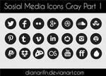 social media icons gray part 1