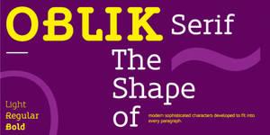 Oblik Serif Bold