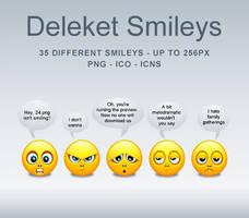Deleket Smileys Icons-PNG's by KenSaunders