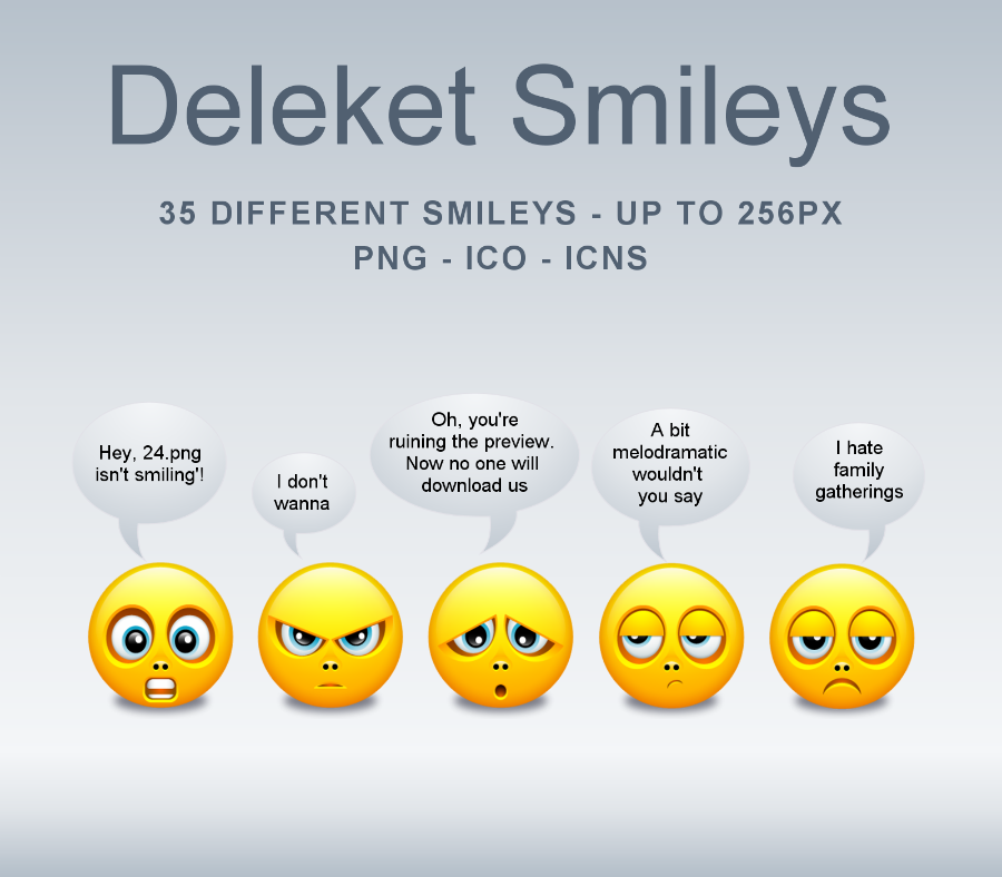 Deleket Smileys Icons-PNG's